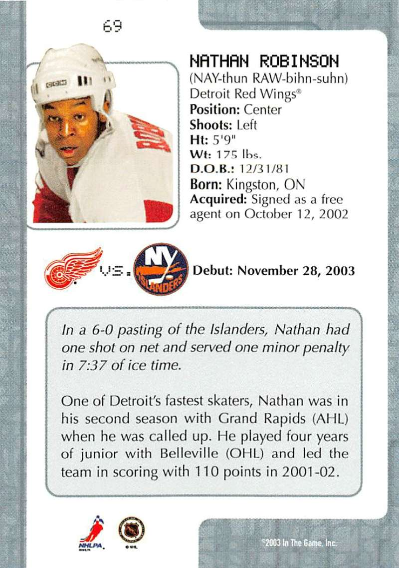 2003-04-In-The-Game-VIP-Rookie-Debut-Hockey-Cards-Pick-From-List thumbnail 123