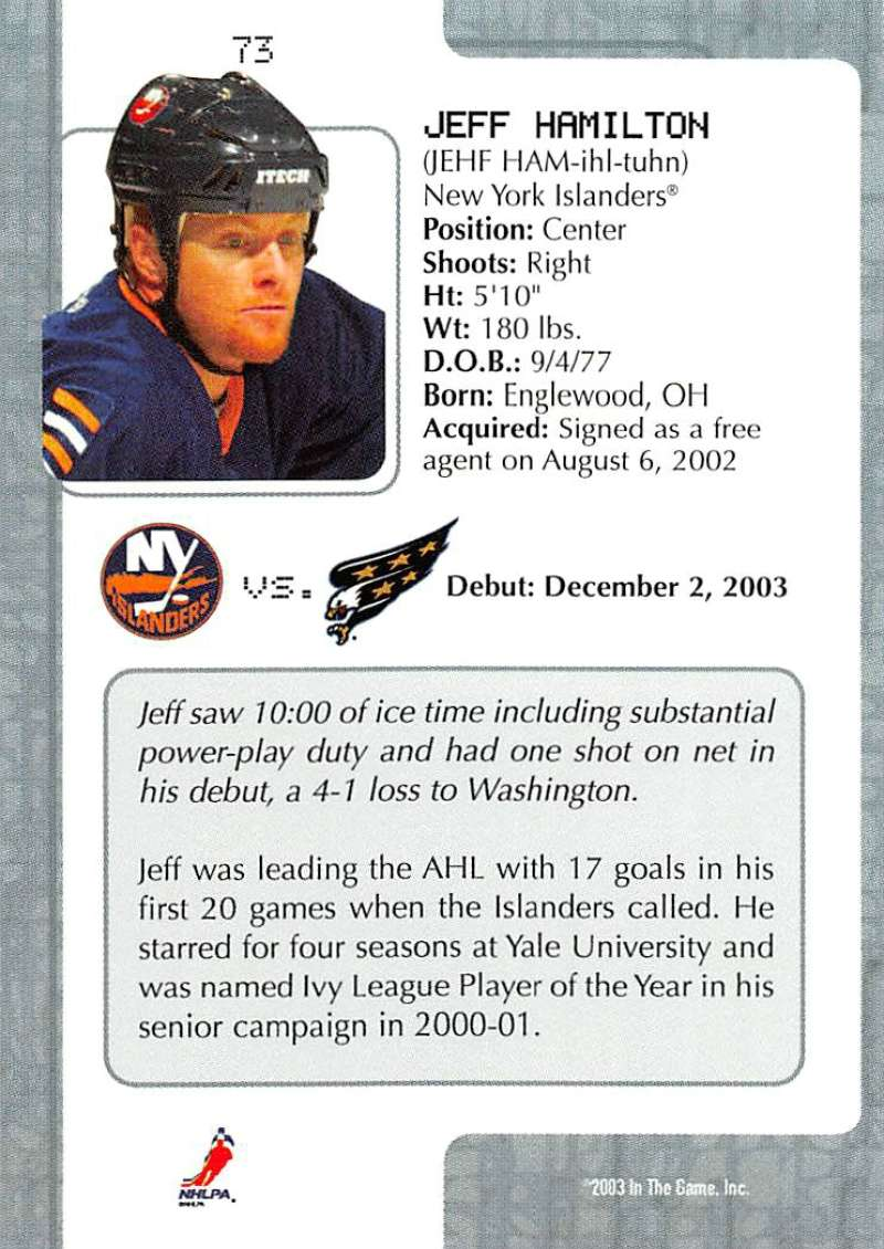 2003-04-In-The-Game-VIP-Rookie-Debut-Hockey-Cards-Pick-From-List thumbnail 131