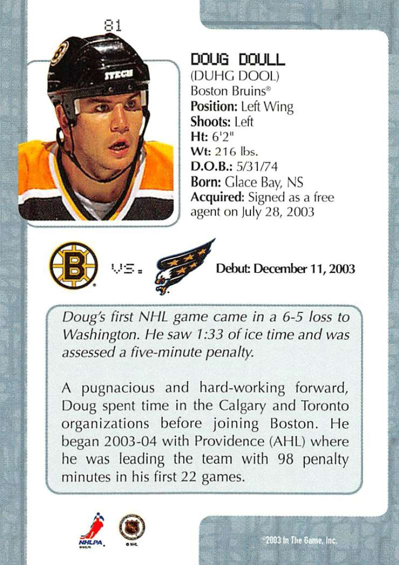 2003-04-In-The-Game-VIP-Rookie-Debut-Hockey-Cards-Pick-From-List thumbnail 145
