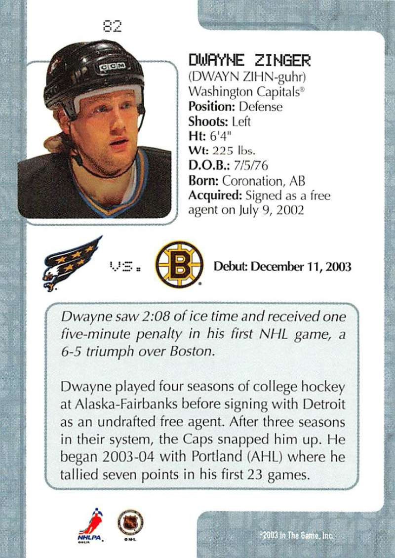 2003-04-In-The-Game-VIP-Rookie-Debut-Hockey-Cards-Pick-From-List thumbnail 147