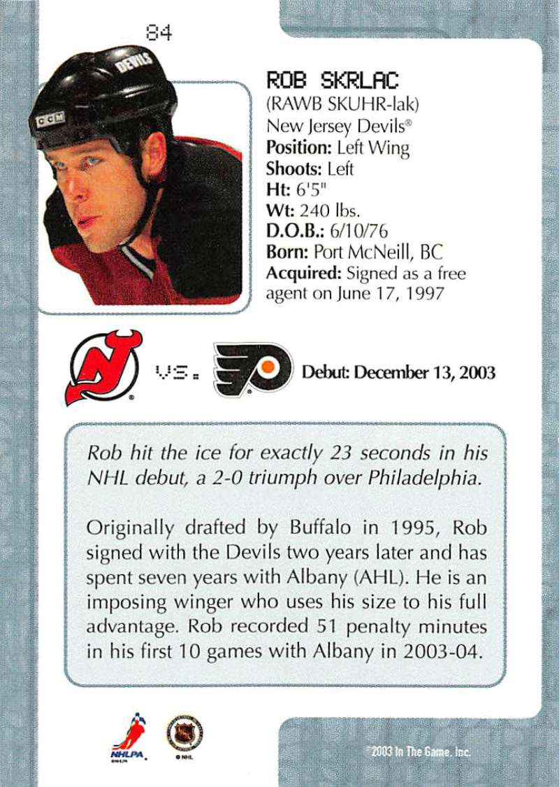 2003-04-In-The-Game-VIP-Rookie-Debut-Hockey-Cards-Pick-From-List thumbnail 151