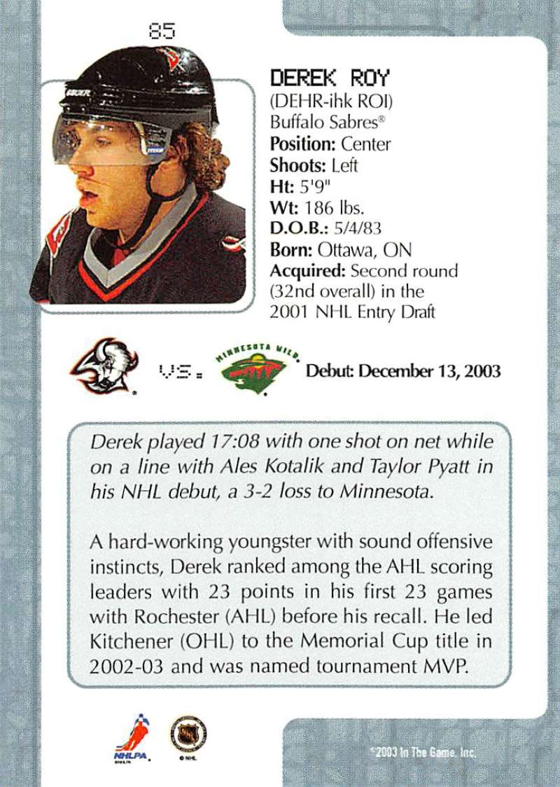 2003-04-In-The-Game-VIP-Rookie-Debut-Hockey-Cards-Pick-From-List thumbnail 153