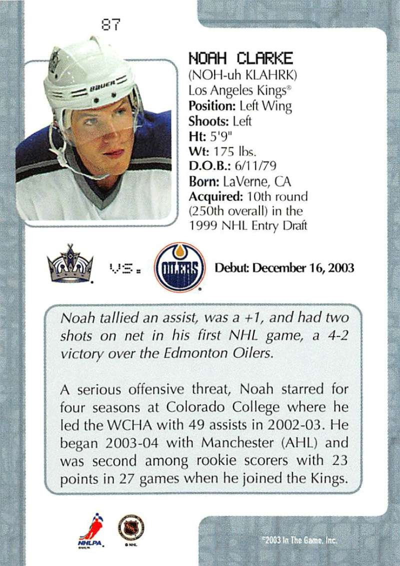 2003-04-In-The-Game-VIP-Rookie-Debut-Hockey-Cards-Pick-From-List thumbnail 157