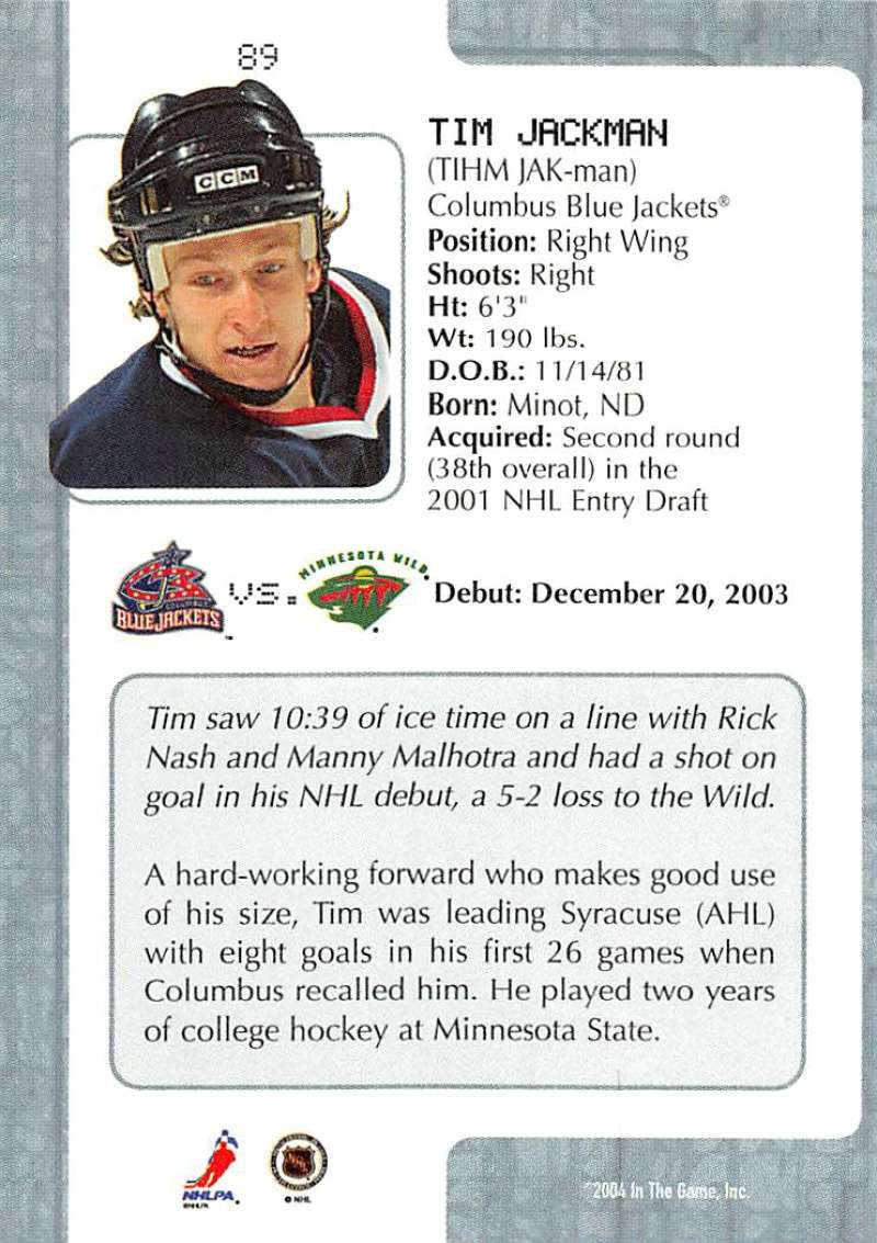 2003-04-In-The-Game-VIP-Rookie-Debut-Hockey-Cards-Pick-From-List thumbnail 161