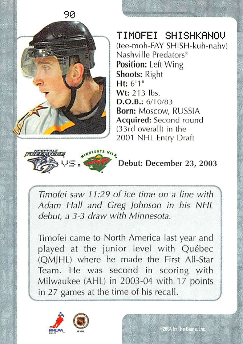 2003-04-In-The-Game-VIP-Rookie-Debut-Hockey-Cards-Pick-From-List thumbnail 163