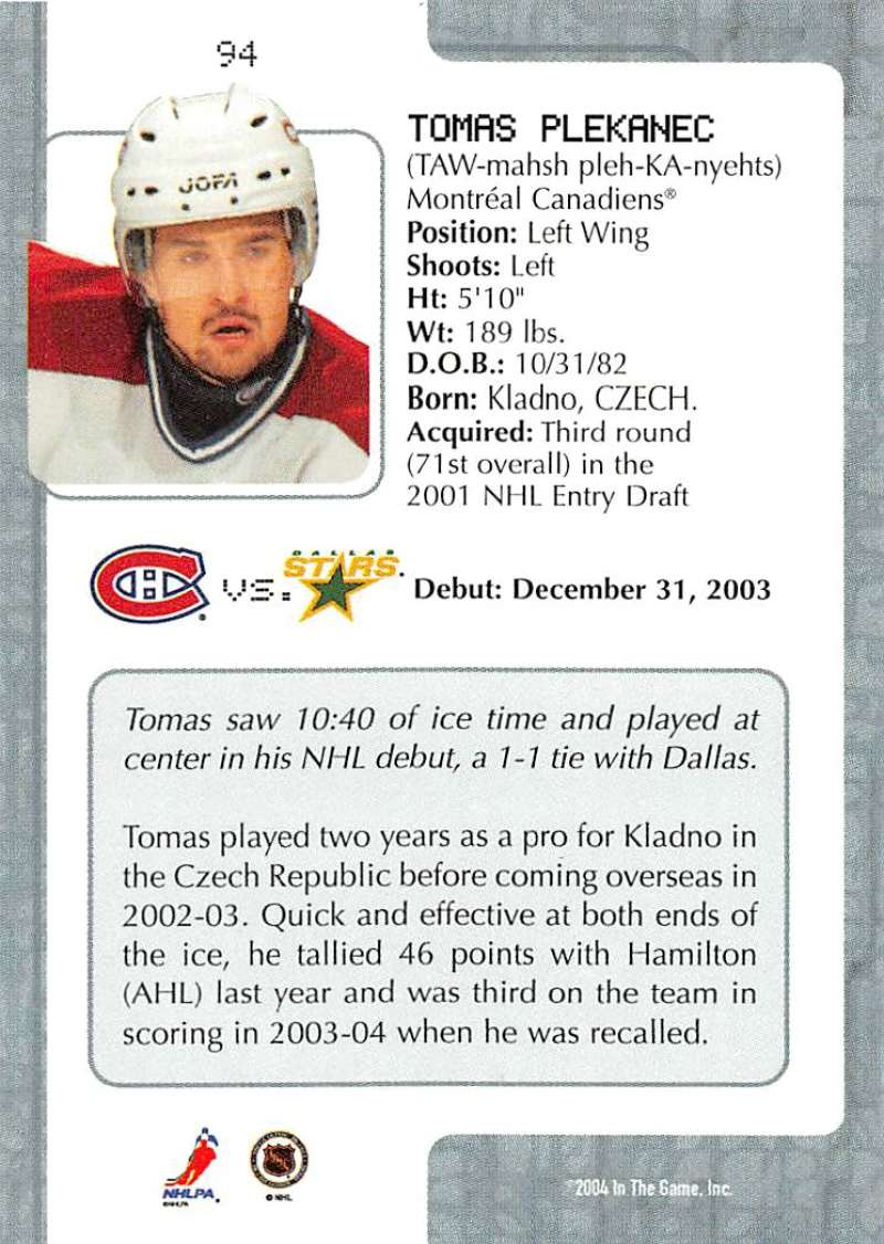 2003-04-In-The-Game-VIP-Rookie-Debut-Hockey-Cards-Pick-From-List thumbnail 171