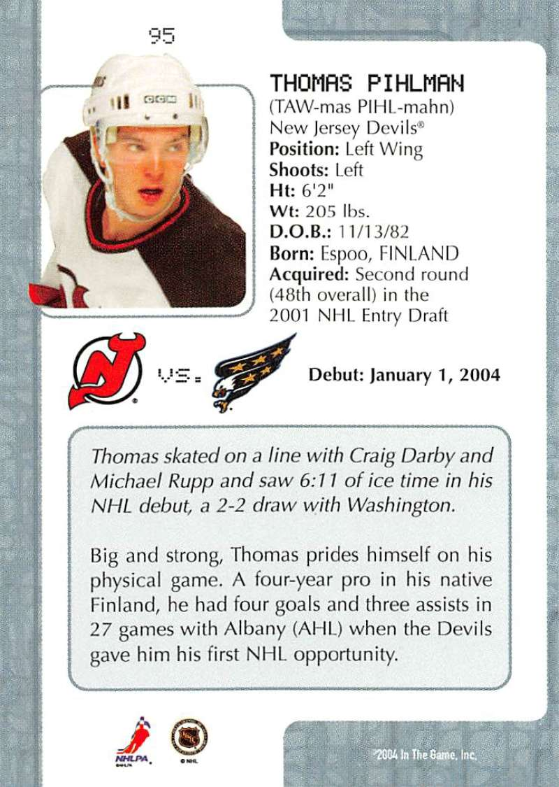 2003-04-In-The-Game-VIP-Rookie-Debut-Hockey-Cards-Pick-From-List thumbnail 173