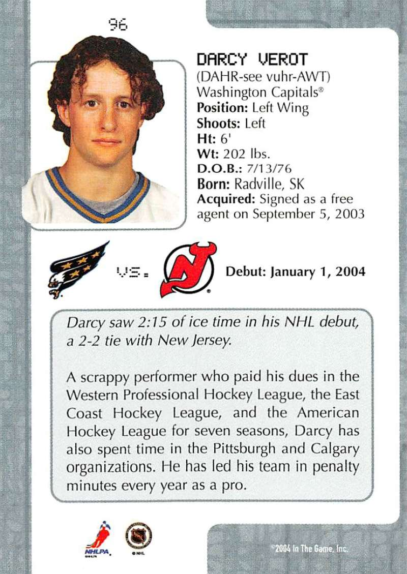 2003-04-In-The-Game-VIP-Rookie-Debut-Hockey-Cards-Pick-From-List thumbnail 175