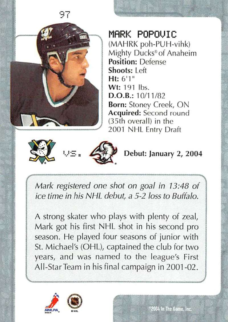 2003-04-In-The-Game-VIP-Rookie-Debut-Hockey-Cards-Pick-From-List thumbnail 177