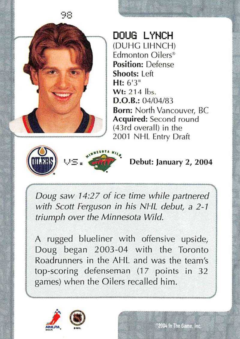 2003-04-In-The-Game-VIP-Rookie-Debut-Hockey-Cards-Pick-From-List thumbnail 179