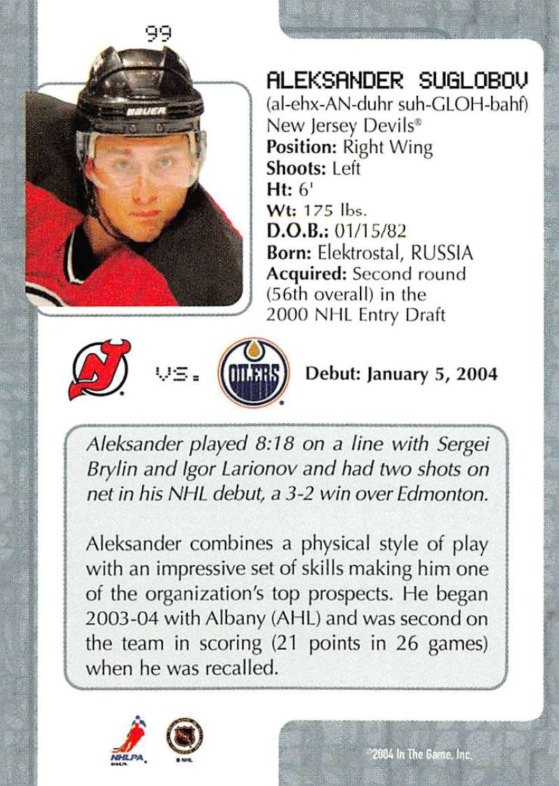 2003-04-In-The-Game-VIP-Rookie-Debut-Hockey-Cards-Pick-From-List thumbnail 181
