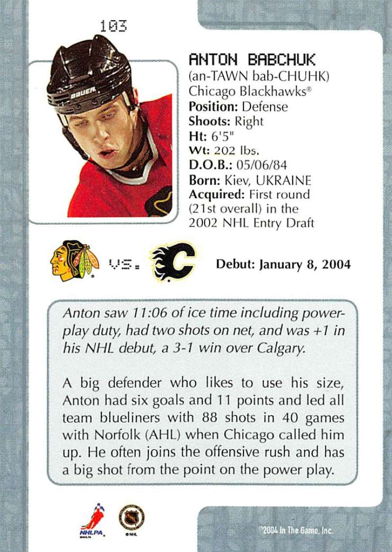 2003-04-In-The-Game-VIP-Rookie-Debut-Hockey-Cards-Pick-From-List thumbnail 187
