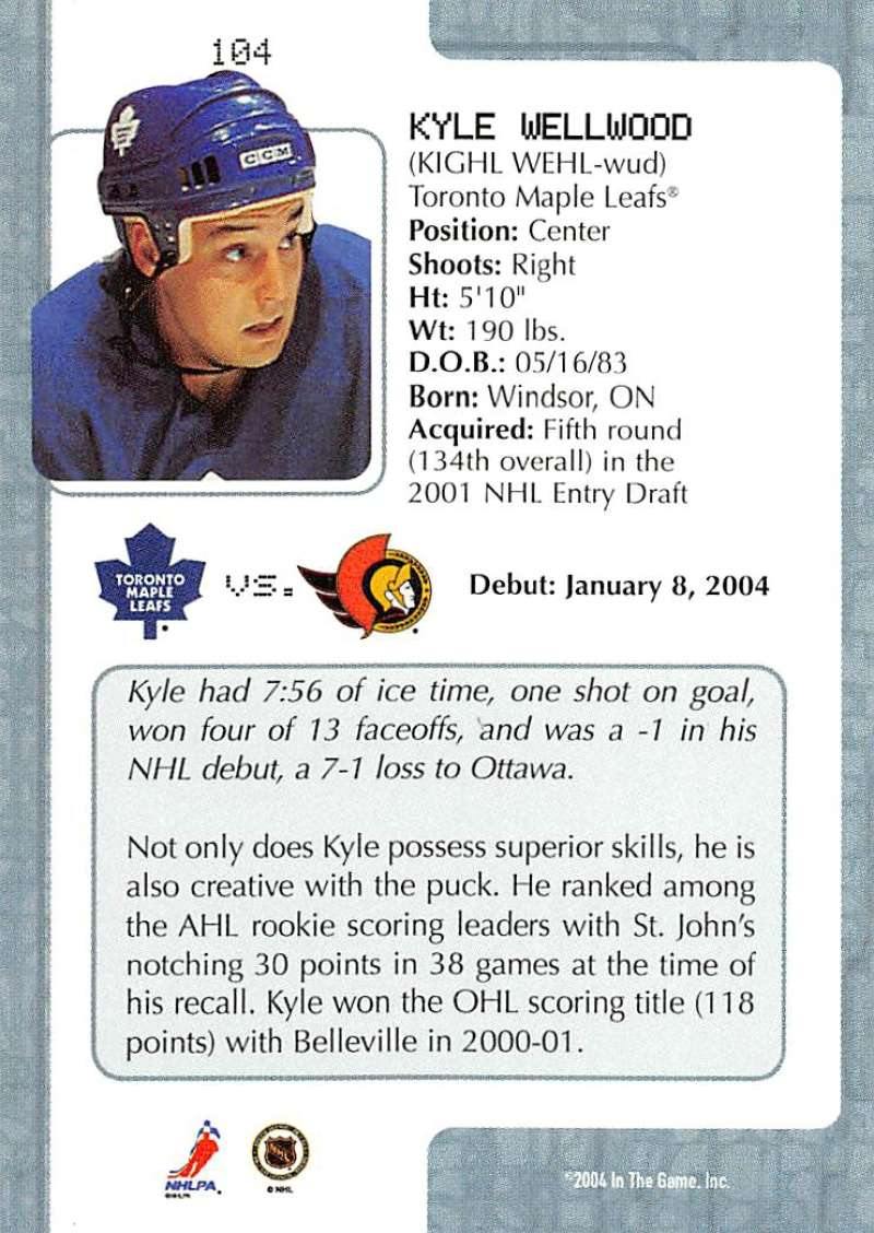 2003-04-In-The-Game-VIP-Rookie-Debut-Hockey-Cards-Pick-From-List thumbnail 189