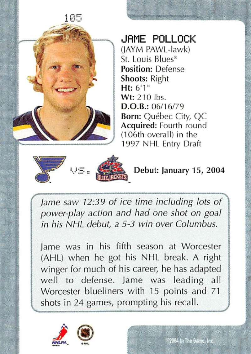2003-04-In-The-Game-VIP-Rookie-Debut-Hockey-Cards-Pick-From-List thumbnail 191