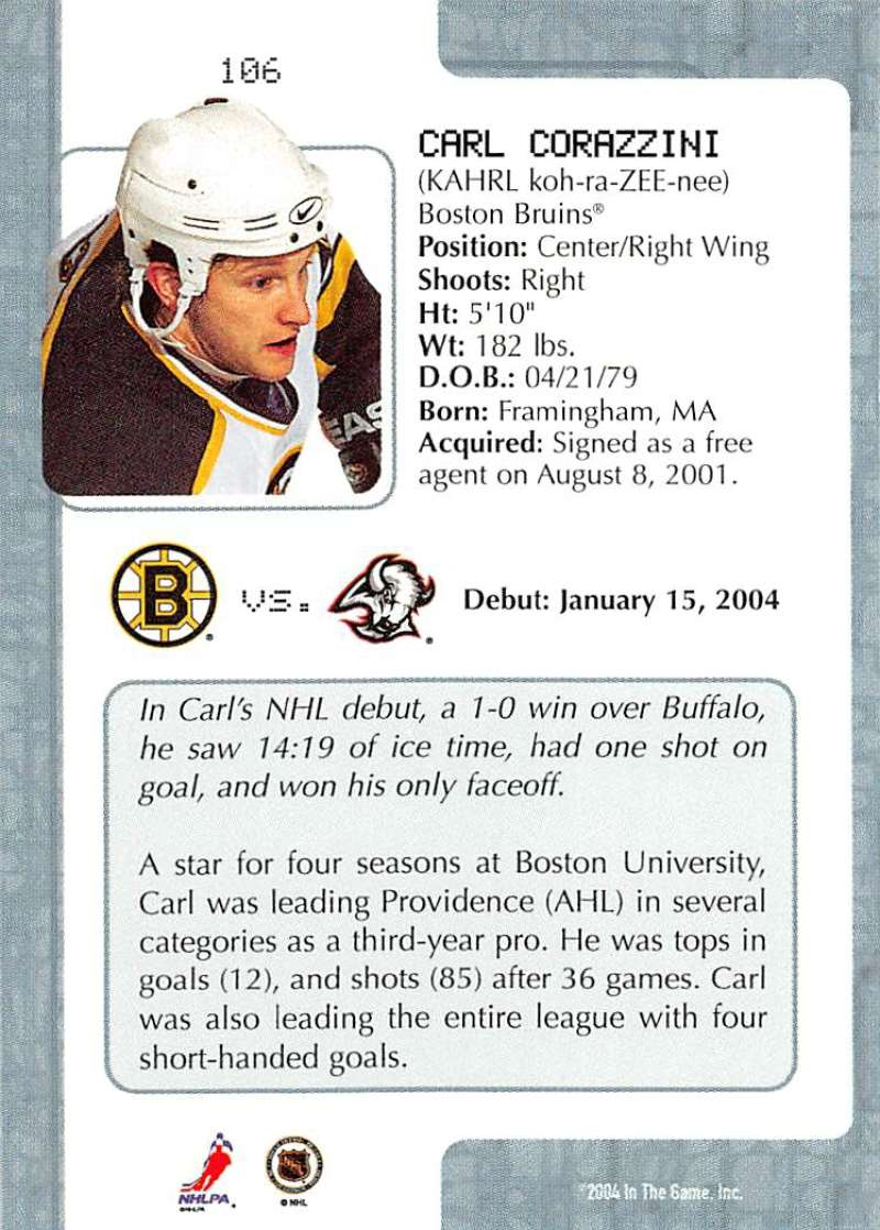 2003-04-In-The-Game-VIP-Rookie-Debut-Hockey-Cards-Pick-From-List thumbnail 193