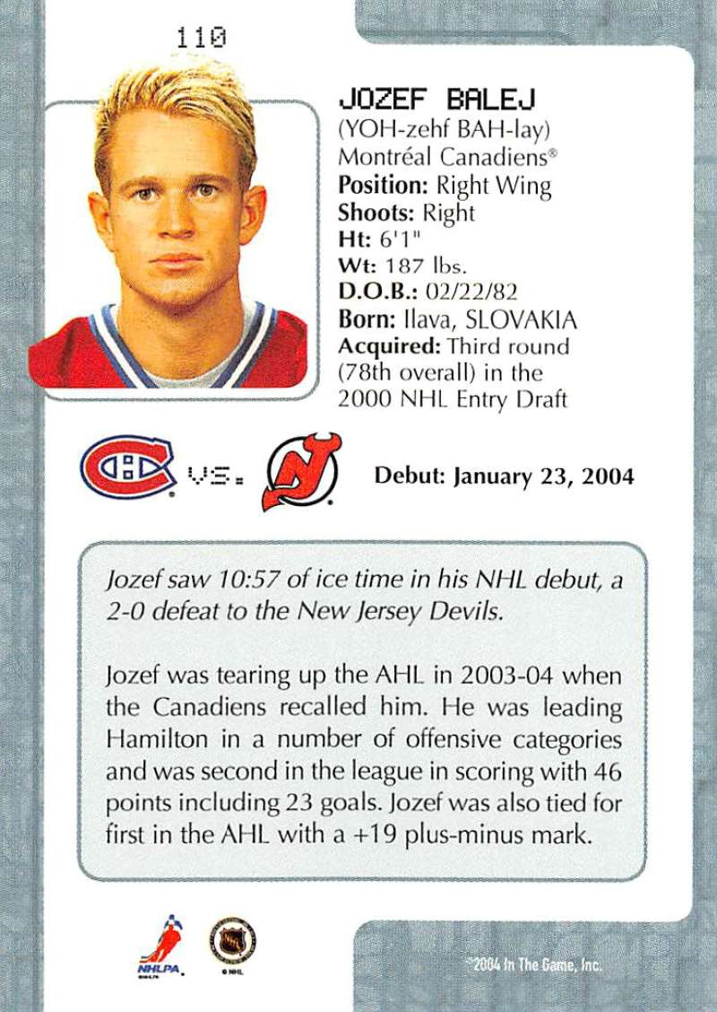 2003-04-In-The-Game-VIP-Rookie-Debut-Hockey-Cards-Pick-From-List thumbnail 201