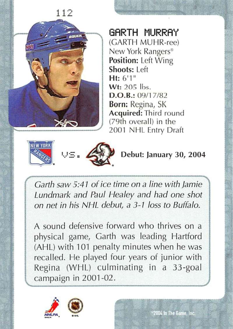2003-04-In-The-Game-VIP-Rookie-Debut-Hockey-Cards-Pick-From-List thumbnail 205