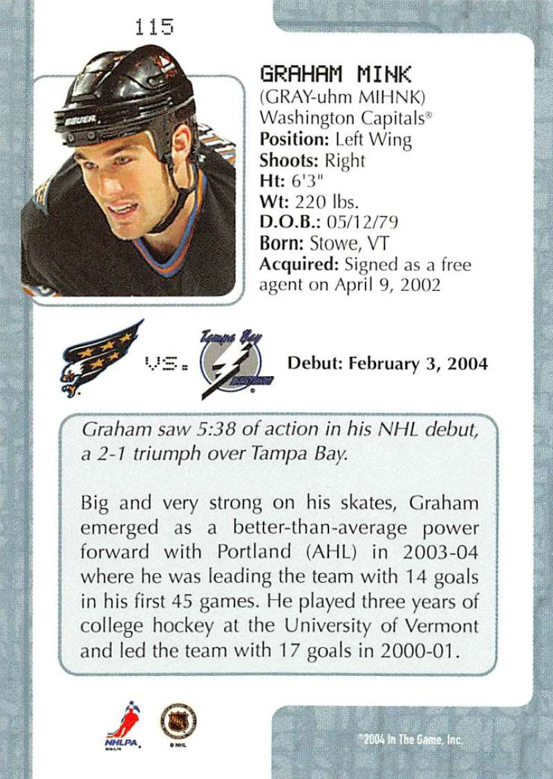 2003-04-In-The-Game-VIP-Rookie-Debut-Hockey-Cards-Pick-From-List thumbnail 209