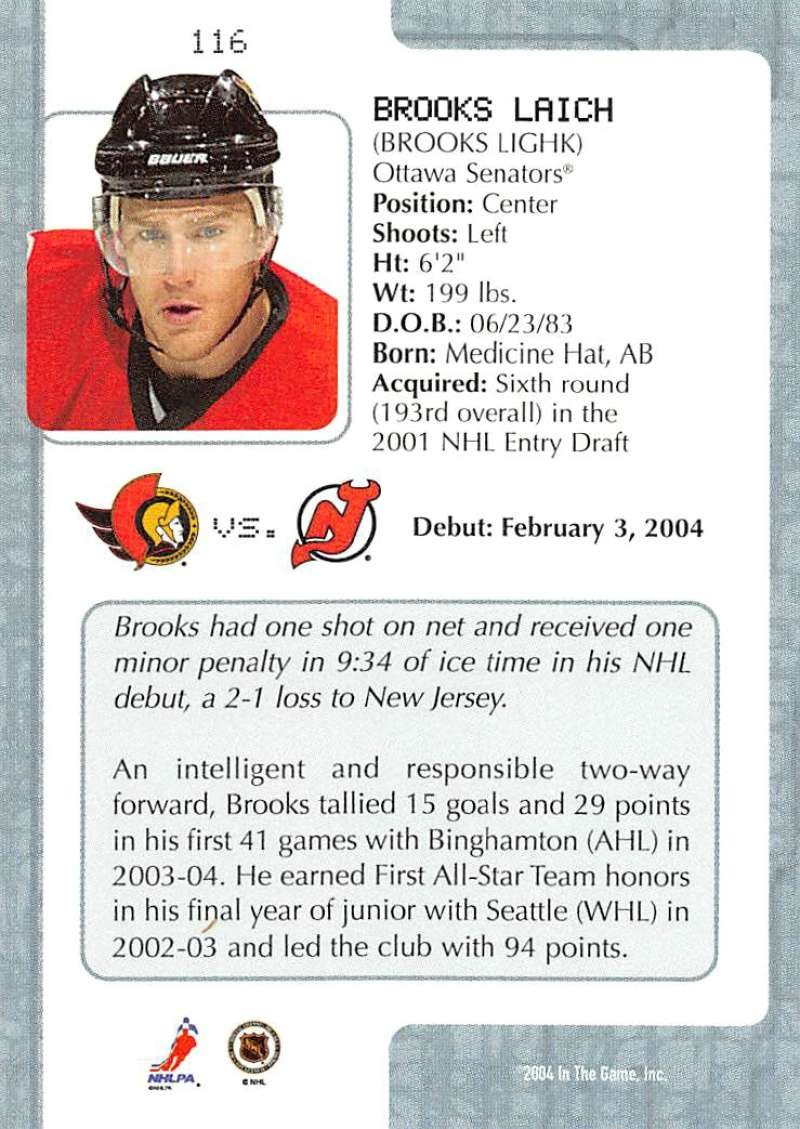 2003-04-In-The-Game-VIP-Rookie-Debut-Hockey-Cards-Pick-From-List thumbnail 211
