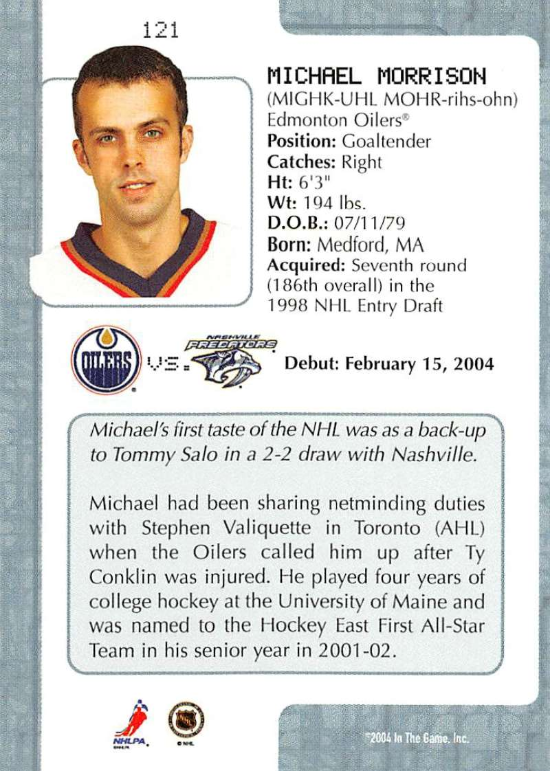 2003-04-In-The-Game-VIP-Rookie-Debut-Hockey-Cards-Pick-From-List thumbnail 221