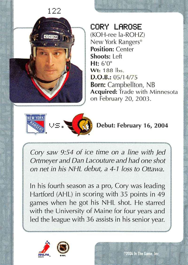 2003-04-In-The-Game-VIP-Rookie-Debut-Hockey-Cards-Pick-From-List thumbnail 223