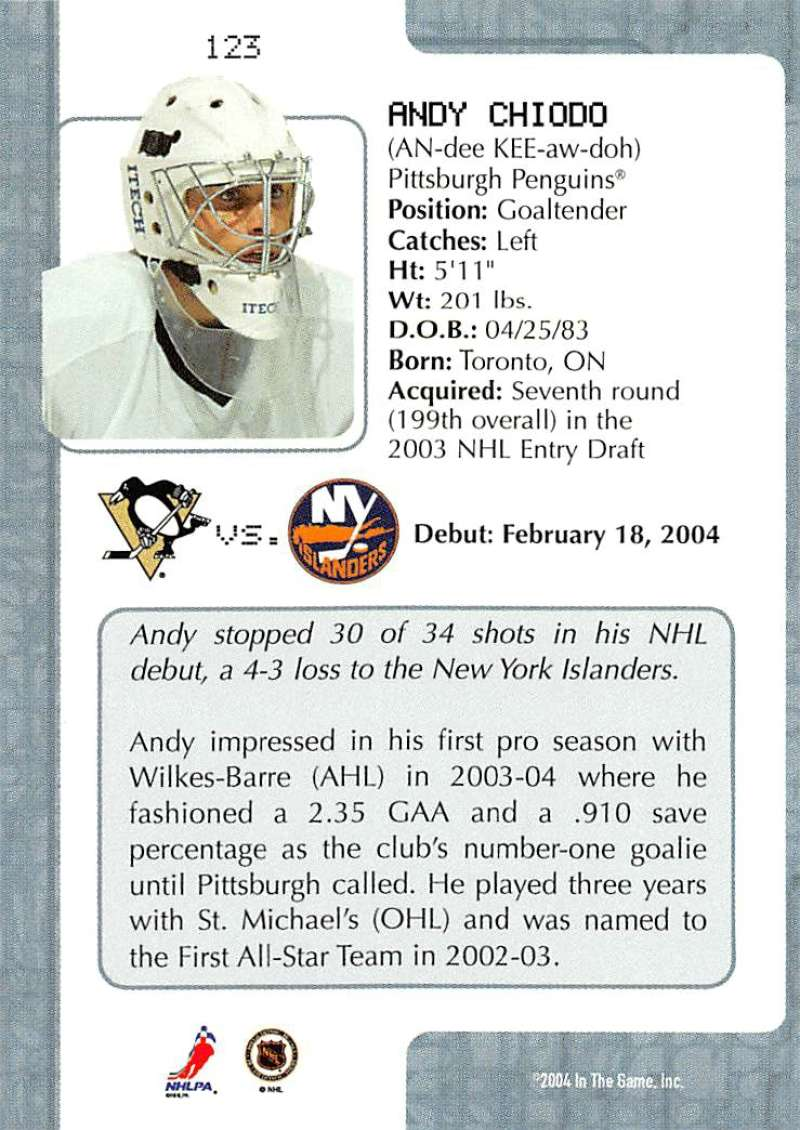 2003-04-In-The-Game-VIP-Rookie-Debut-Hockey-Cards-Pick-From-List thumbnail 225