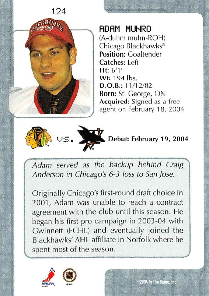 2003-04-In-The-Game-VIP-Rookie-Debut-Hockey-Cards-Pick-From-List thumbnail 227