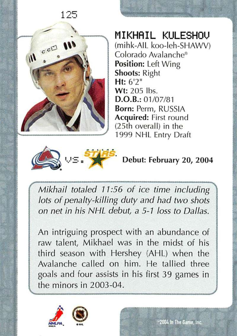 2003-04-In-The-Game-VIP-Rookie-Debut-Hockey-Cards-Pick-From-List thumbnail 229