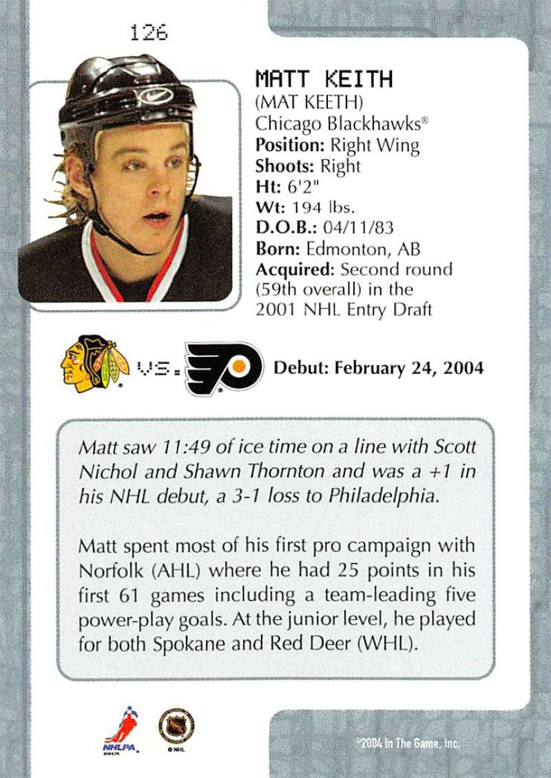 2003-04-In-The-Game-VIP-Rookie-Debut-Hockey-Cards-Pick-From-List thumbnail 231