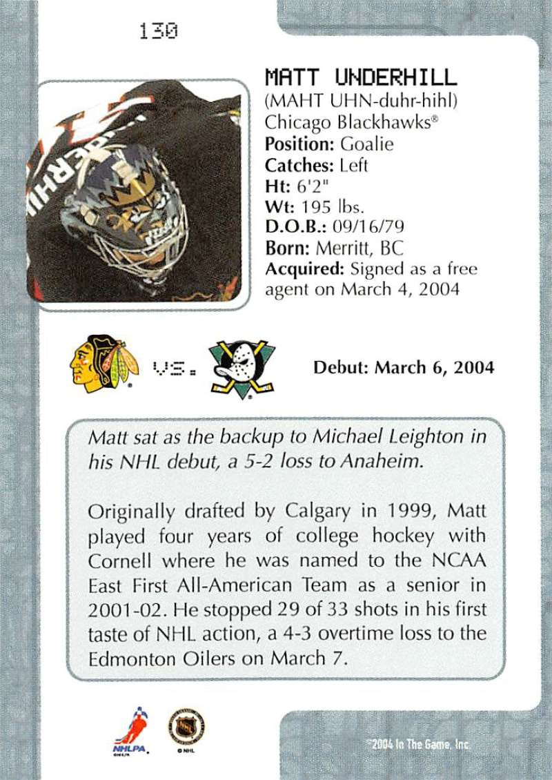 2003-04-In-The-Game-VIP-Rookie-Debut-Hockey-Cards-Pick-From-List thumbnail 237