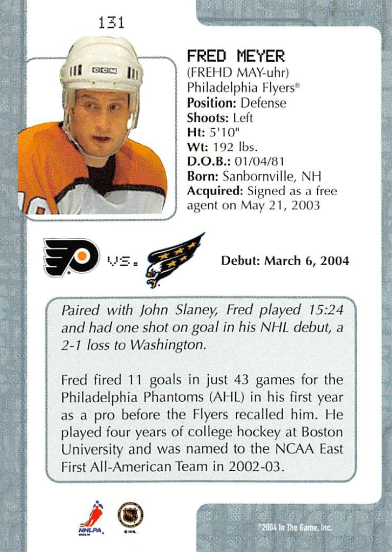 2003-04-In-The-Game-VIP-Rookie-Debut-Hockey-Cards-Pick-From-List thumbnail 239