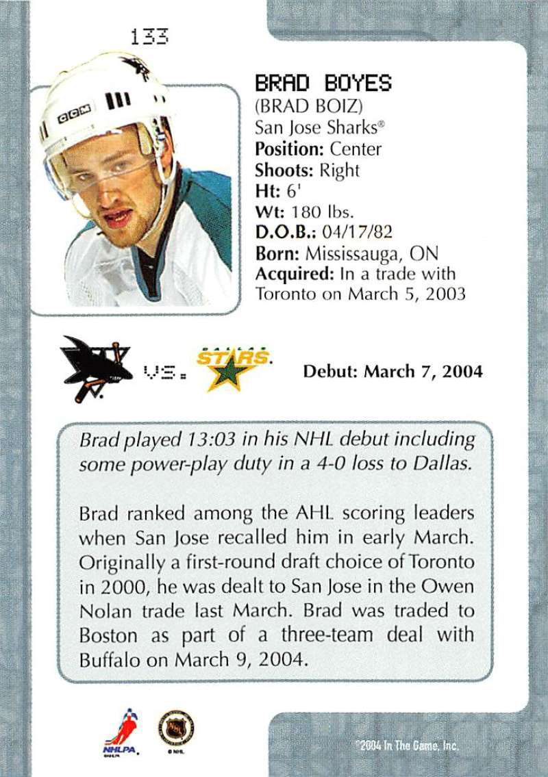 2003-04-In-The-Game-VIP-Rookie-Debut-Hockey-Cards-Pick-From-List thumbnail 243