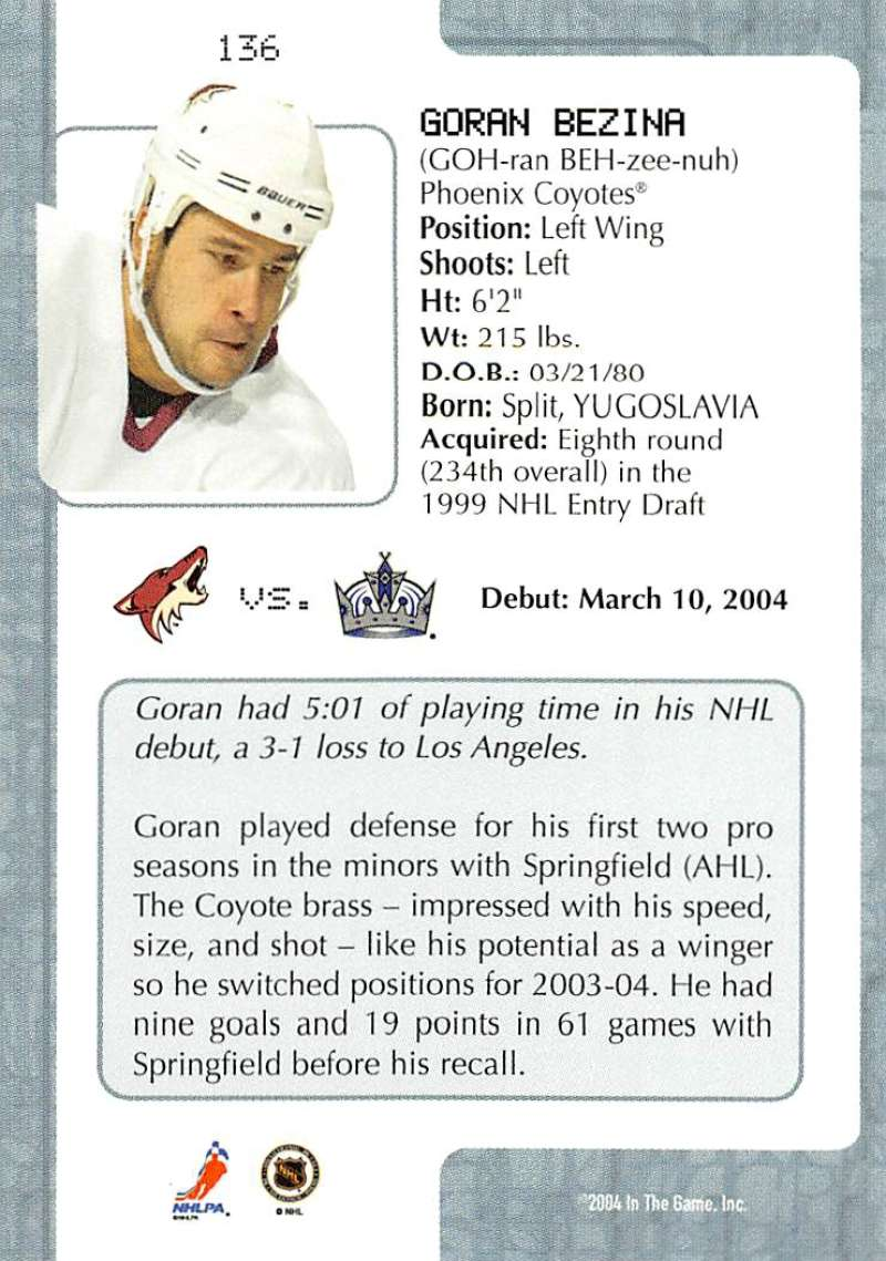 2003-04-In-The-Game-VIP-Rookie-Debut-Hockey-Cards-Pick-From-List thumbnail 249