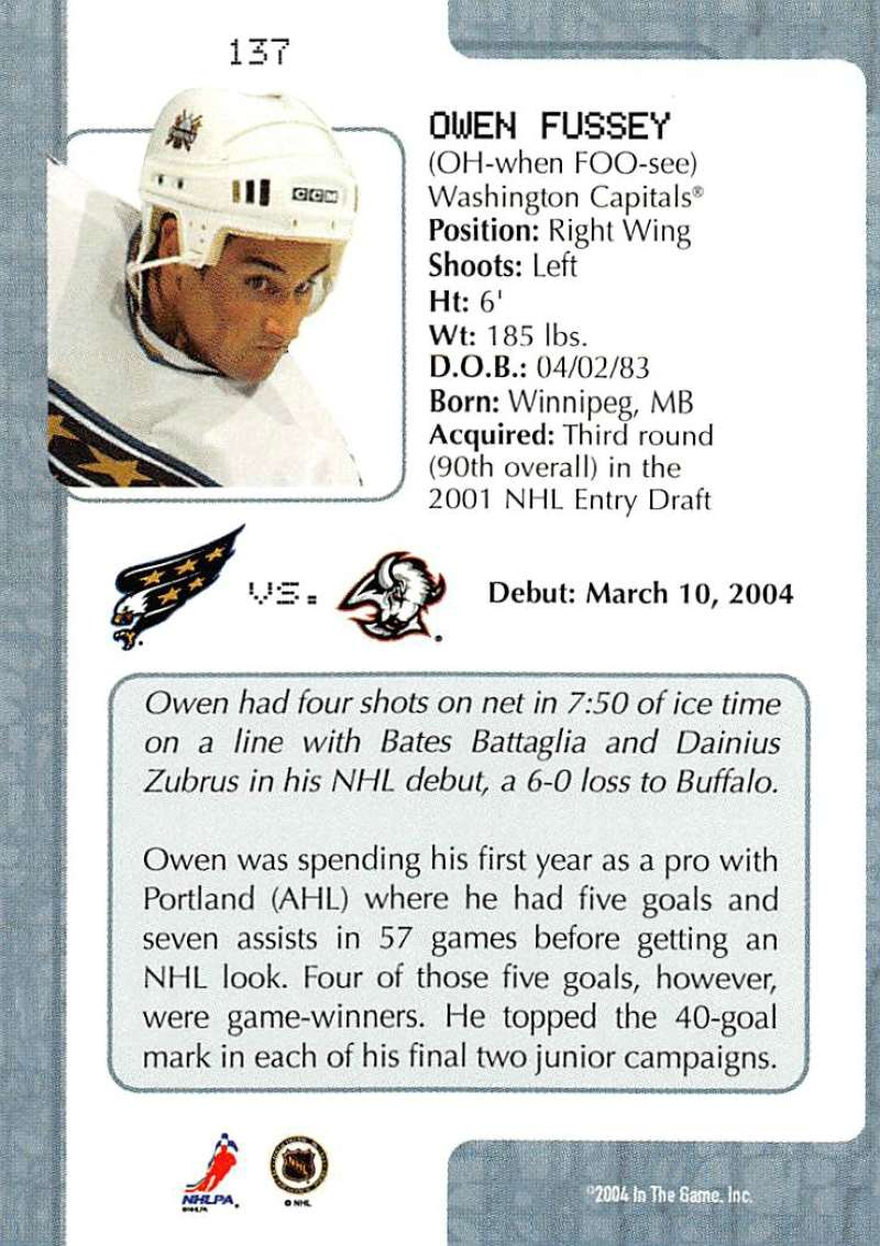 2003-04-In-The-Game-VIP-Rookie-Debut-Hockey-Cards-Pick-From-List thumbnail 251