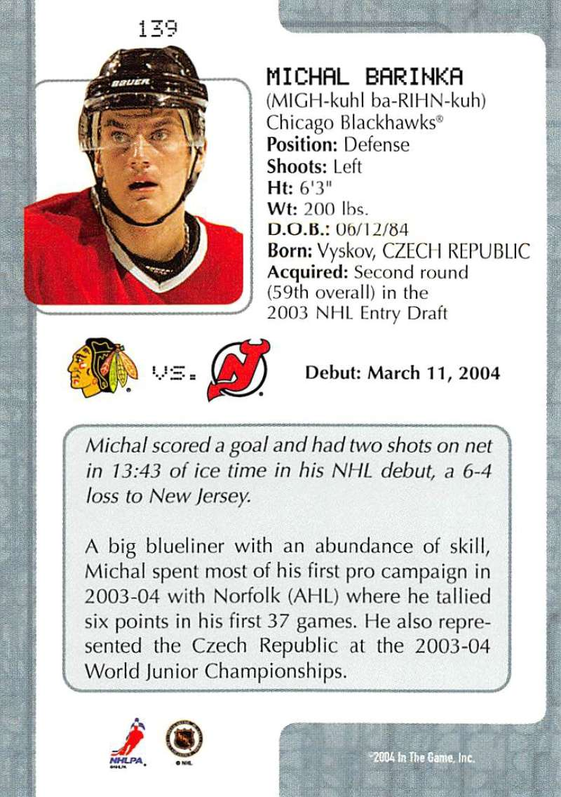 2003-04-In-The-Game-VIP-Rookie-Debut-Hockey-Cards-Pick-From-List thumbnail 255