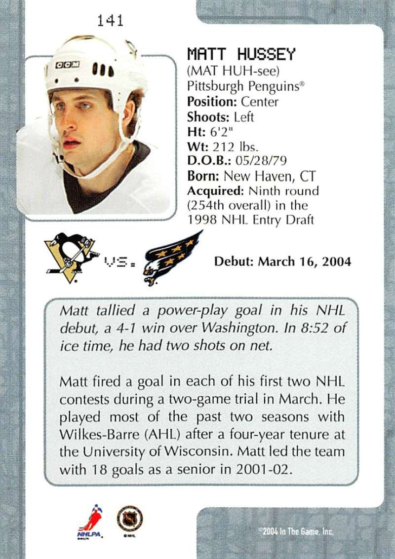 2003-04-In-The-Game-VIP-Rookie-Debut-Hockey-Cards-Pick-From-List thumbnail 259