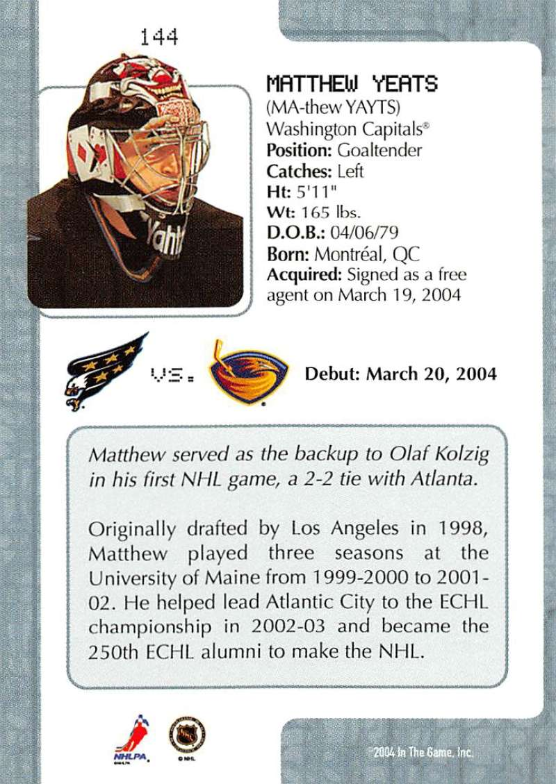 2003-04-In-The-Game-VIP-Rookie-Debut-Hockey-Cards-Pick-From-List thumbnail 263