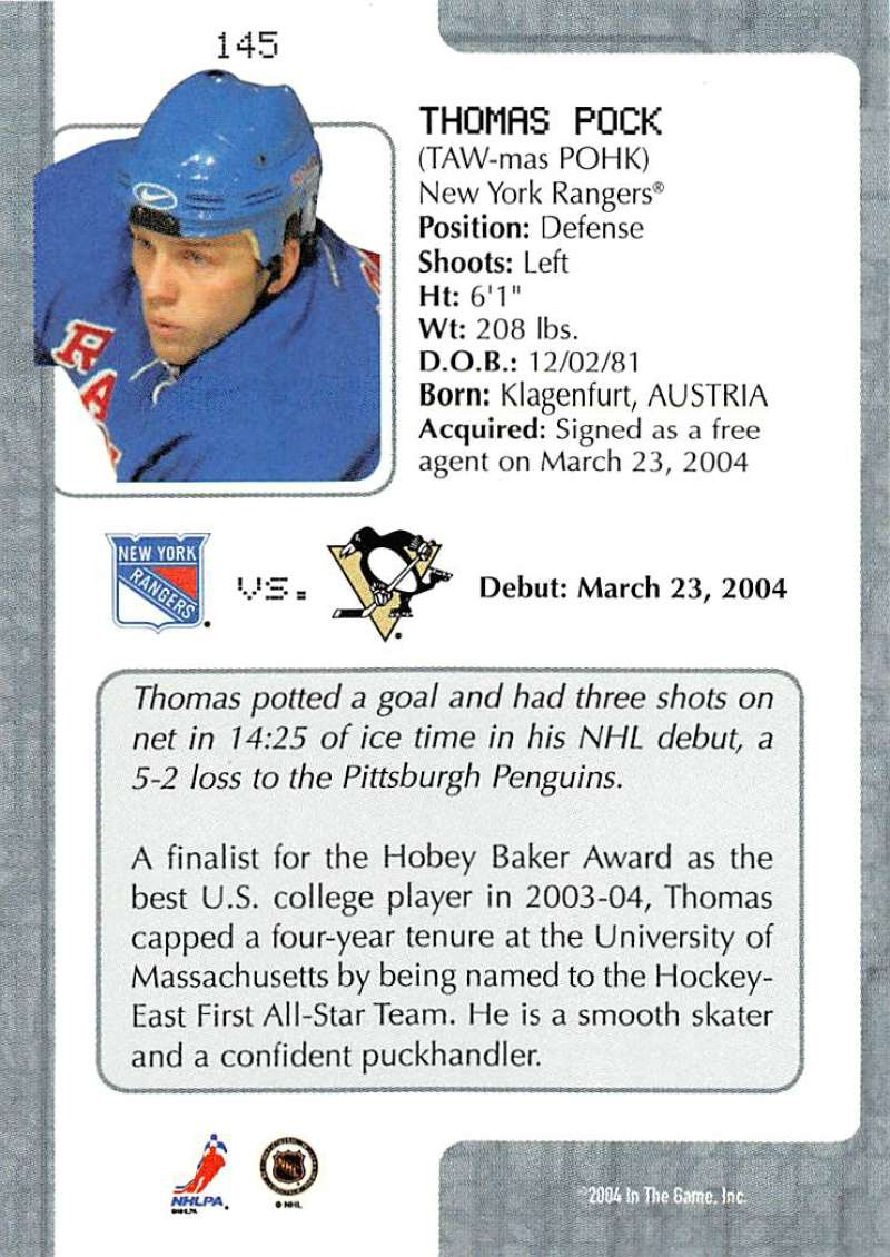 2003-04-In-The-Game-VIP-Rookie-Debut-Hockey-Cards-Pick-From-List thumbnail 265