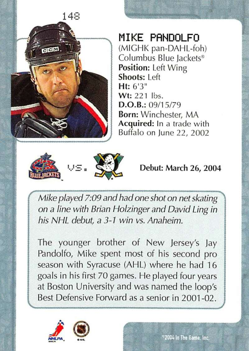 2003-04-In-The-Game-VIP-Rookie-Debut-Hockey-Cards-Pick-From-List thumbnail 271
