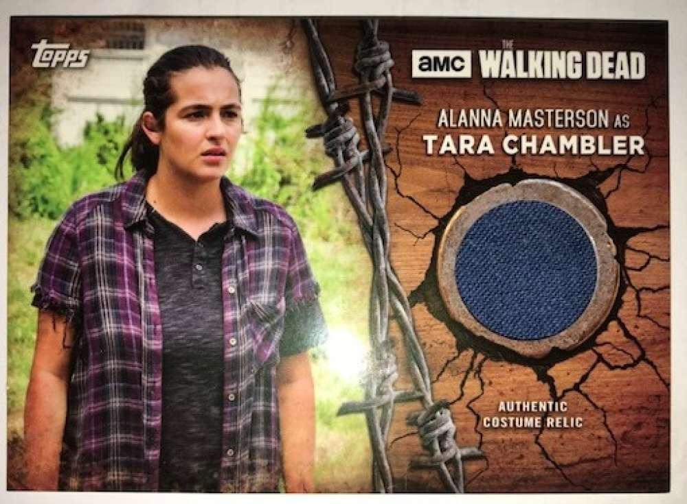 2017 Topps Walking Dead Season 7 Costume Relics #TC Tara Chambler MEM Shirt