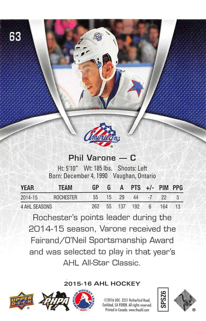 2015-16-Upper-Deck-AHL-Hockey-Cards-Pick-From-List-Includes-Short-Prints thumbnail 127