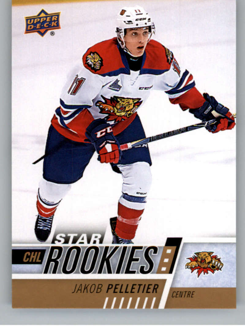 2017-18 Upper Deck CHL #354 Jakob Pelletier RC Rookie Card SP Short Print Star Rookies