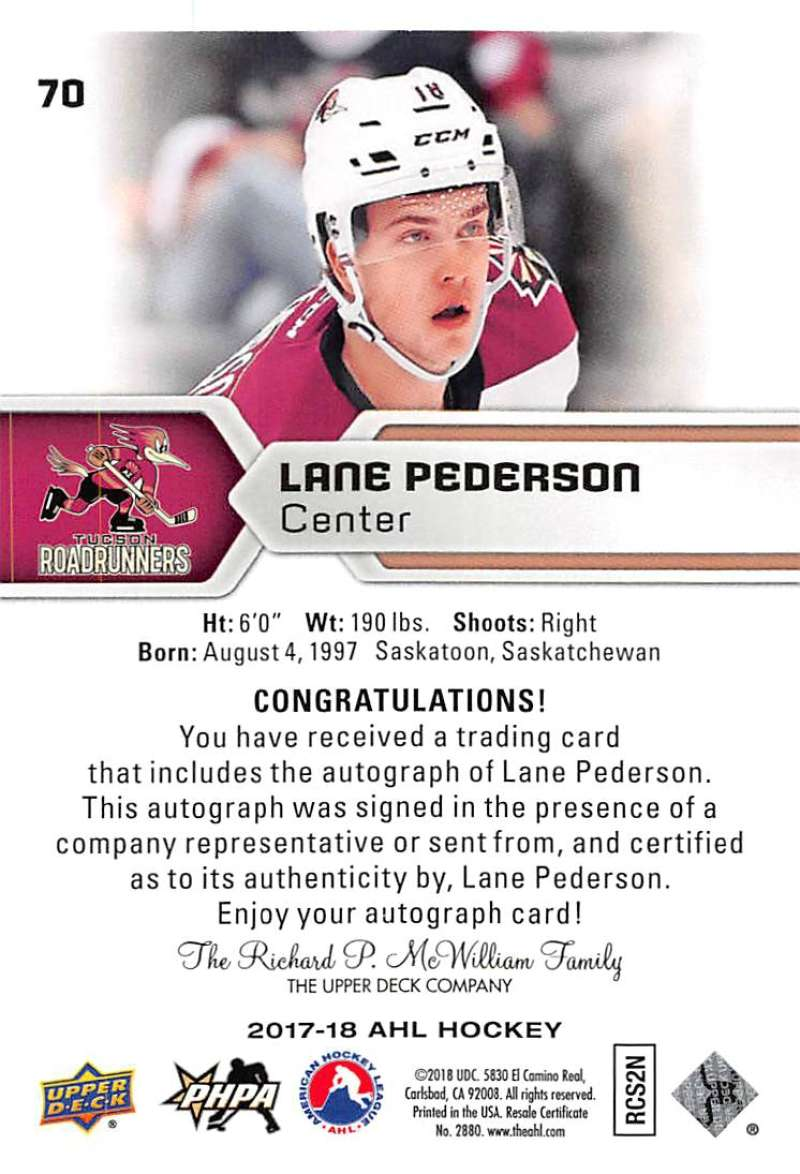 2017-18-Upper-Deck-AHL-Autographs-and-Team-Standout-Cards-Pick-From-List
