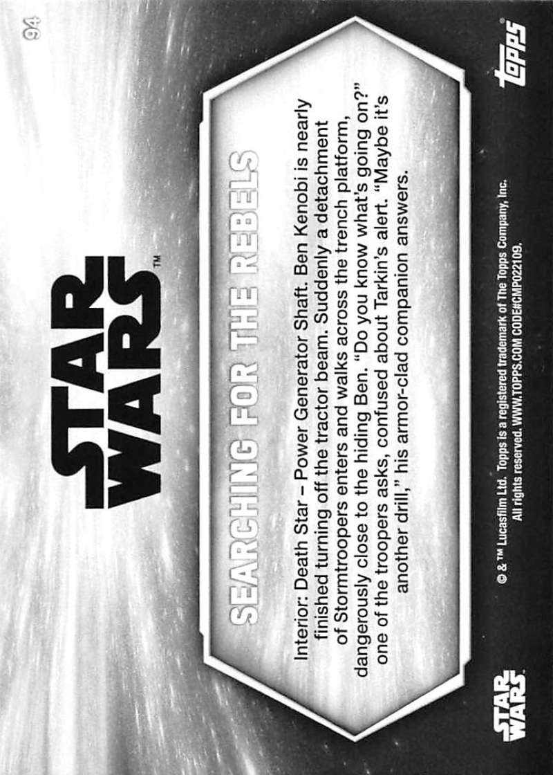 2018 Topps Star Wars A New Hope Black and White Trading Cards Pick From List