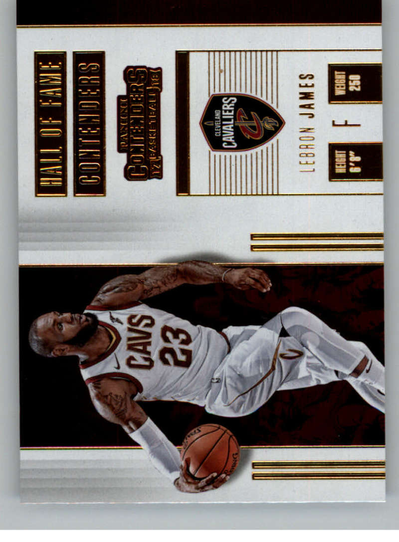 2017-18 Panini Contenders Hall of Fame Contenders #6 LeBron James Cavaliers Basketball Card