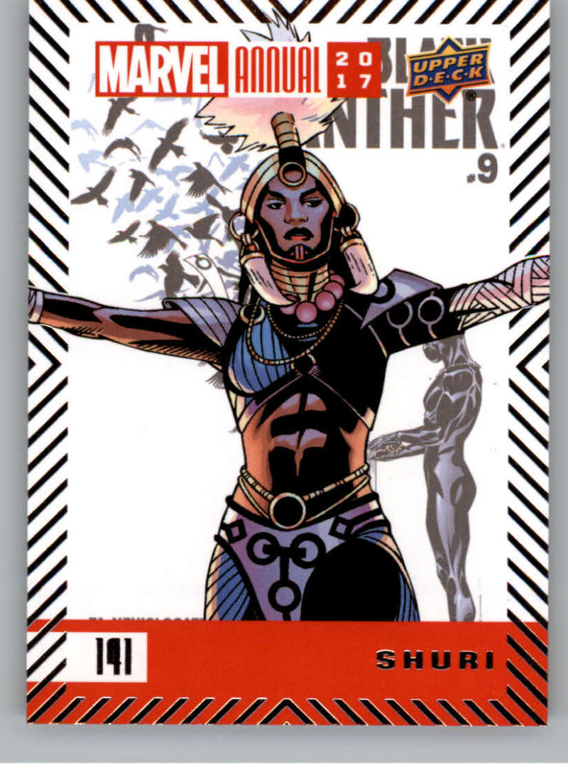2018 Upper Deck Marvel Annual #141 Shuri SP Short Print Marvel Shuri Superhero
