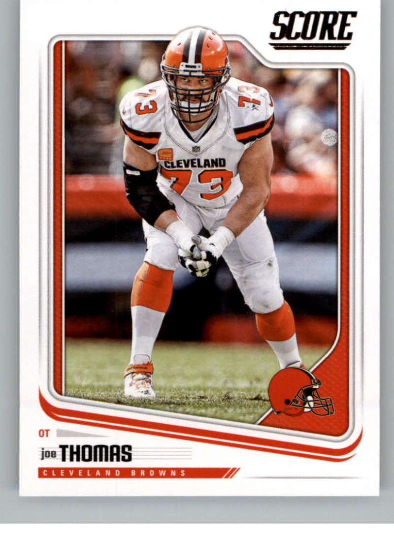 2018 Score #80 Joe Thomas Cleveland Browns Football Card