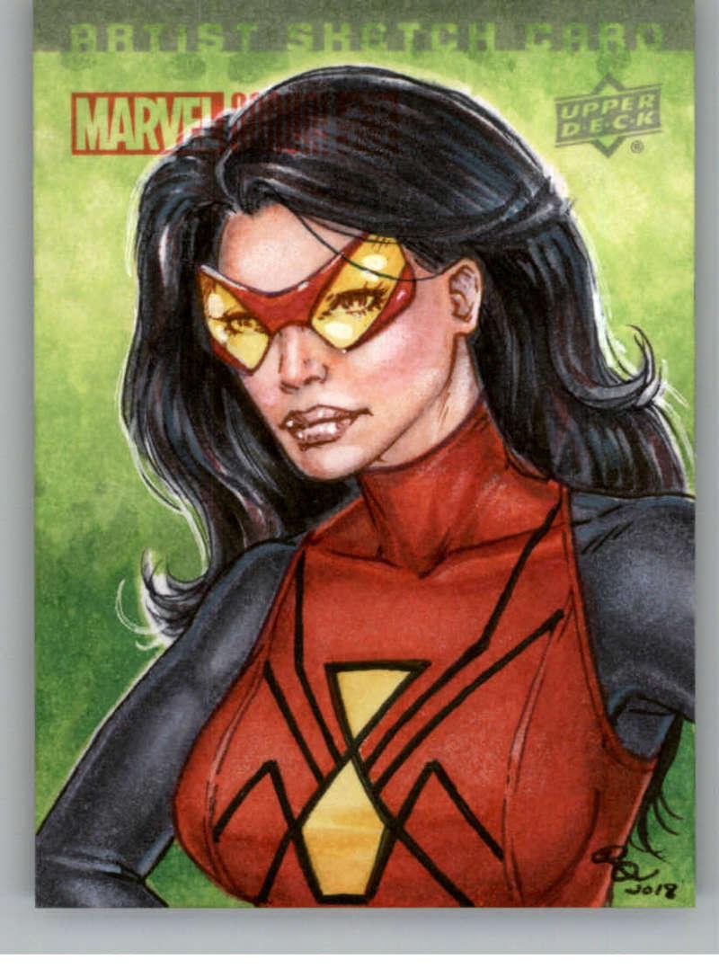 2018 Upper Deck Marvel Annual Sketch Artist #NNO Rhiannon Owens (Spider Woman) Marvel Trading Card