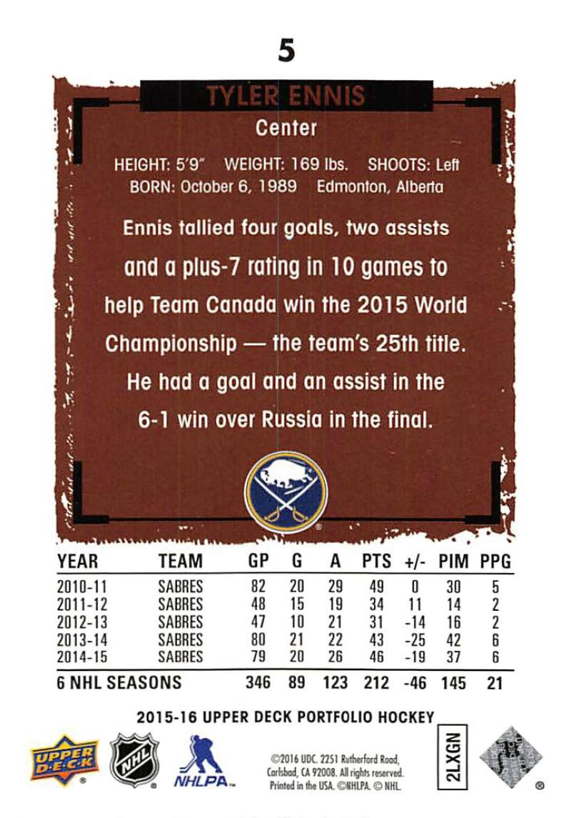 2015-16-Upper-Deck-Portfolio-Hockey-Cards-Pick-From-List-1-250-Includes-Rookies thumbnail 11