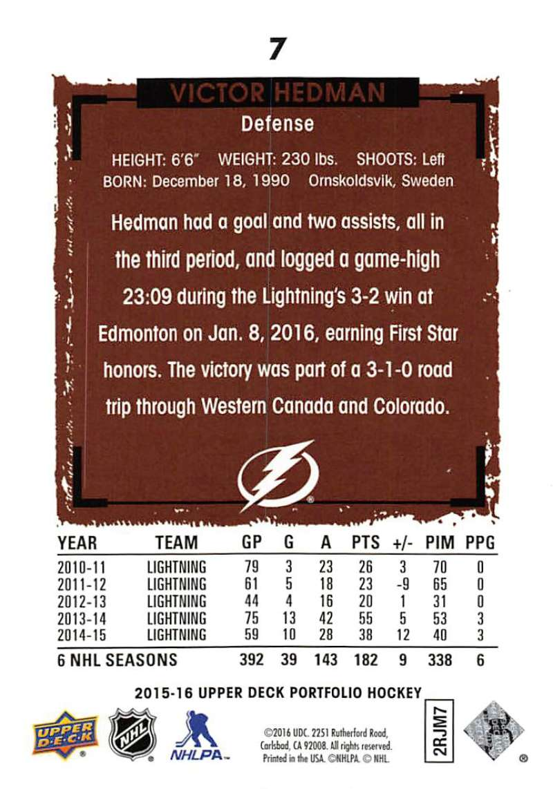 2015-16-Upper-Deck-Portfolio-Hockey-Cards-Pick-From-List-1-250-Includes-Rookies thumbnail 15